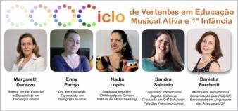 Ciclo de Vertentes em Educação Musical Ativa e 1a. Infância